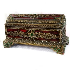 Other - EUC-Lacquered/Gilt HandCarved Thai Traditional Box